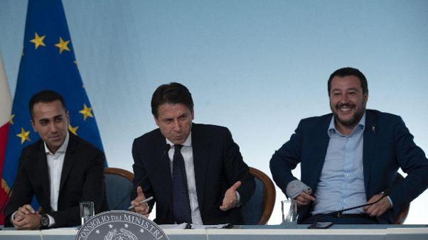 Vertice Conte, Di Maio e Salvini