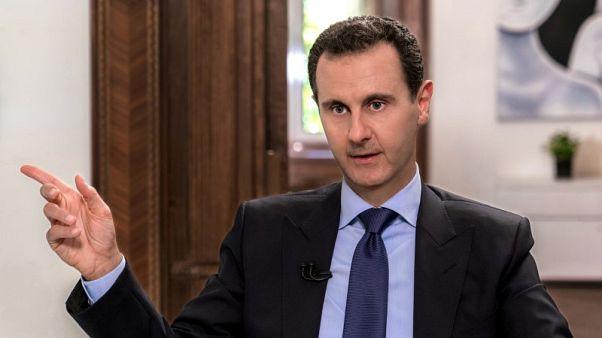 الأسد التقى بمسؤولين روس في دمشق لبحث الوضع في سوريا