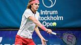 Tennis: Tsitsipas premier finaliste à Stockholm