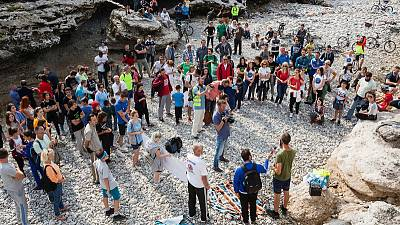 Montenegrins protest against Albanian dam on shared river