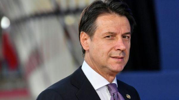 Le Premier ministre italien Giuseppe Conte à Bruxelles le 18 octobre 2018