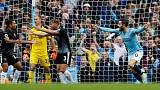 City go top with 5-0 crushing of Burnley