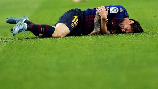 Barca: Messi ko, Inter e Real a rischio