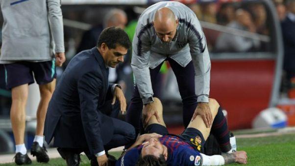 FC Barcelone: Messi blessé pour 3 semaines, clasico compromis