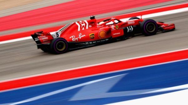 GP des Etats-Unis: Vettel et Ferrari plus rapides sur le sec