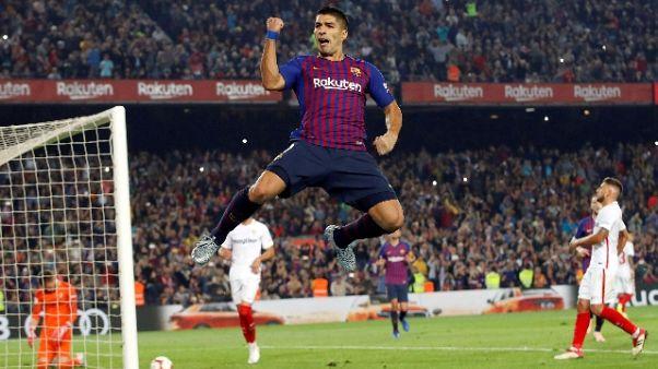 4-2 al Siviglia,Barcellona guida la Liga