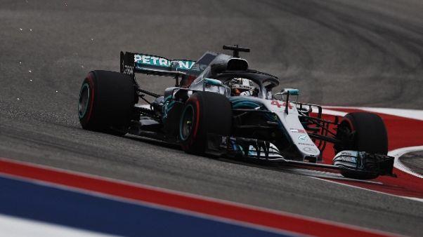 F1: Usa, pole Hamilton poi Vettel e Kimi