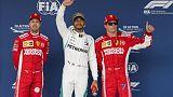 Motor racing - Hamilton on pole in Austin, Vettel starts fifth