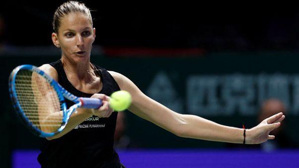 Pliskova stuns Wozniacki in Singapore, Svitolina downs Kvitova