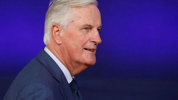 EU's Barnier plays down 'backstop' checks on Northern Irish trade