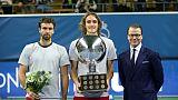 Tennis: premier titre à Stockholm pour la révélation Tsitsipas