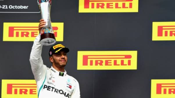Le Britannique Lewis Hamilton 3e du GP des Etats-Unis le 21 octobre 2018