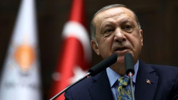 Le président turc Recep Tayyip Erdogan, le 16 octobre 2018 à Ankara