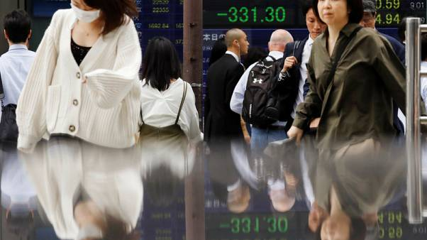 Asia stocks edge up as Wall Street shows resilience, oil near two-month lows