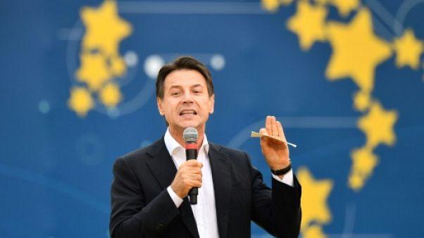 Le Premier ministre italien Giuseppe Conte, le 21 octobre 2018 à Rome