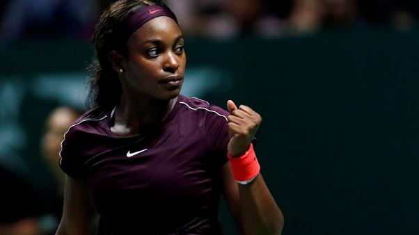 Tennis - Stephens benefits from positive attitude in WTA Finals debut
