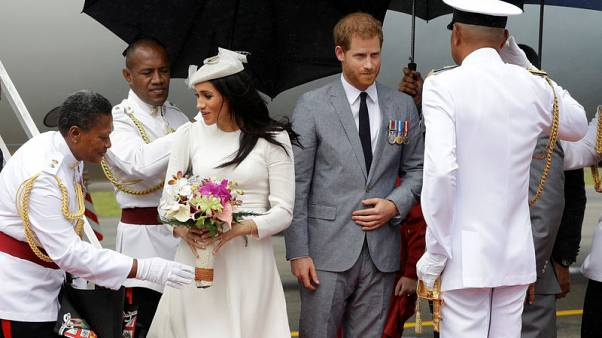 Harry and Meghan arrive in Fiji in British royals' first visit since 2006 coup