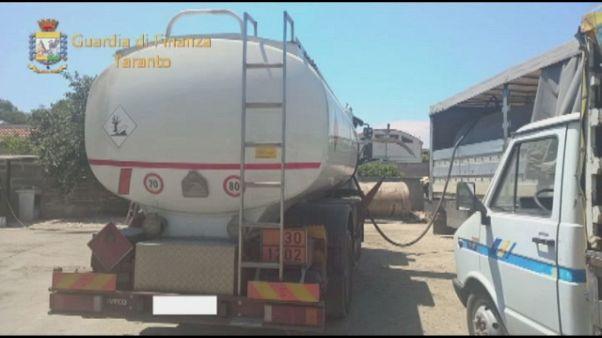 Traffico gasolio,sette arresti a Taranto