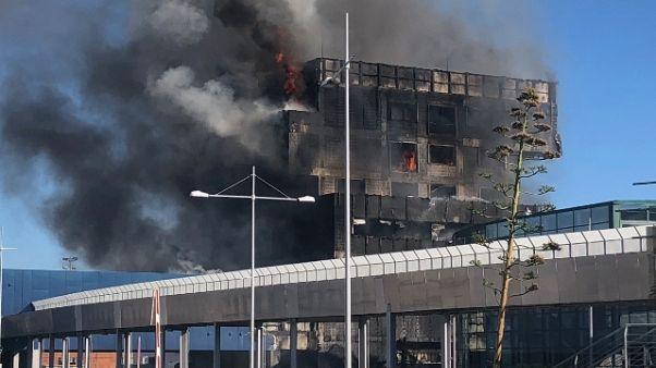 A fuoco uffici Autorità Portuale Savona