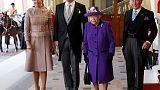 ملك وملكة هولندا يستهلان زيارة دولة لبريطانيا
