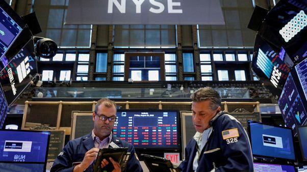 Stocks fall on global worries while Treasuries rise