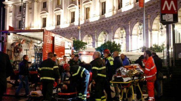 Rome: des supporters russes blessés dans l'écroulement d'un escalier mécanique