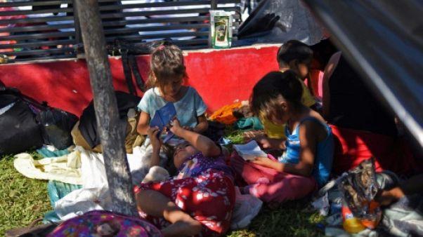 Le difficile périple des enfants de la caravane des migrants
