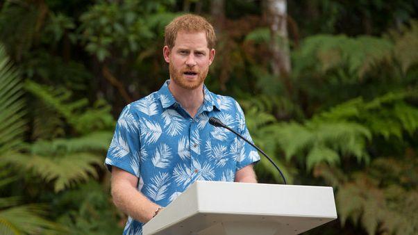 الأمير البريطاني هاري يسلط الضوء على تهديد تغير المناخ في فيجي