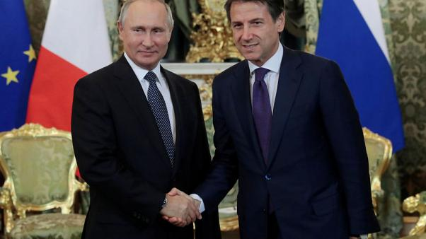 Italy PM Conte says EU sanctions on Russia must be overcome