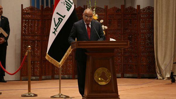 رئيس الوزراء العراقي الجديد يؤدي اليمين بعد إقرار جزء من تشكيلته الحكومية