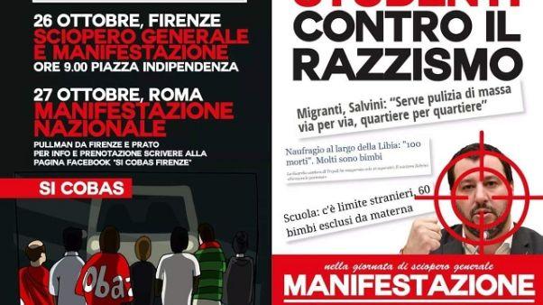 Locandine a Firenze contro Salvini