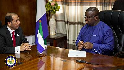 President Julius Maada Bio Meets Deputy Foreign Affairs Minister of the United Arab Emirates in Freetown