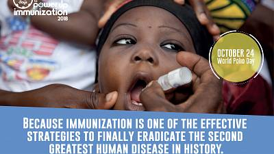 Journée Mondiale de la poliomyélite : La polio ressurgit à moins de deux ans de la fin du financement de l'Initiative Mondiale d'Eradication de la Poliomyélite