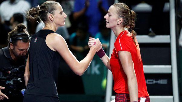 Pliskova eases past Kvitova to book semi-final berth