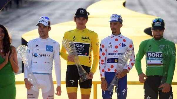 Tour celebra 100 anni maglia gialla