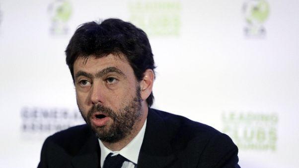 "Calcio, Agnelli ""giusta Serie A a 18"""