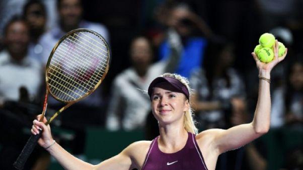 Tennis: Masters de Singapour: Svitolina, invaincue, accompagne Pliskova en demies
