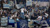 E. League, pietre contro bus Lazio