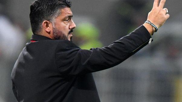 Milan, panchina Gattuso non è a rischio