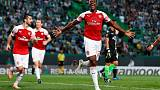 Arsenal edge Sporting as Betis stun Milan in Europa League