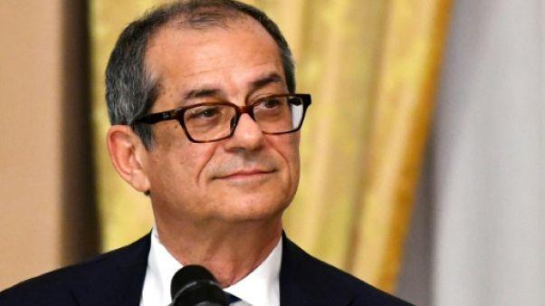Le ministre italien des Finances Giovanni Tria, le 18 octobre 2018 à Rome
