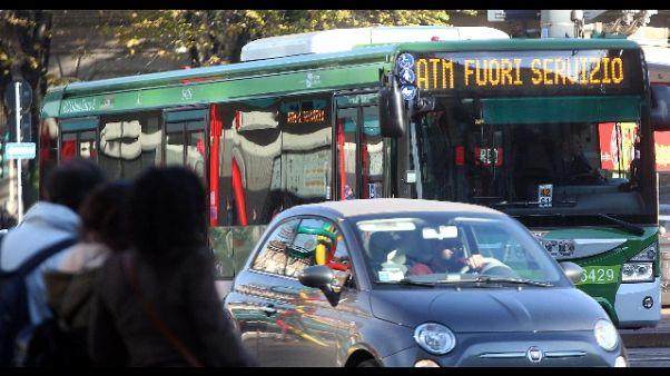 Iniziato a Milano sciopero dei trasporti