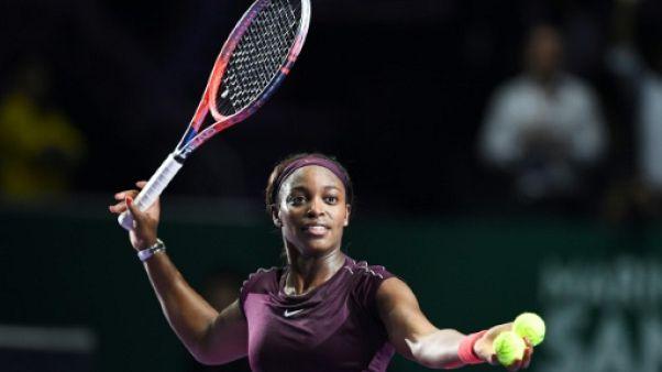 Masters de tennis: Stephens dernière qualifiée pour les demi-finales