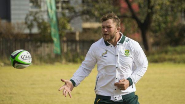 Le Sud-africain Duane Vermeulen à l'entraînement le 31 mai 2018 à Soweto