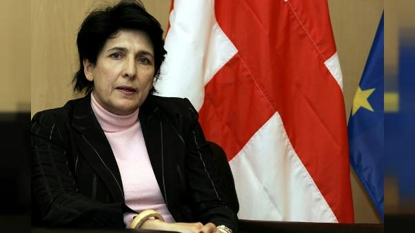 Salomé Zourabichvili à Bruxelles, le 2 mars 2005