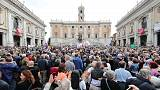 Romans protest at eternal decline of Italian capital