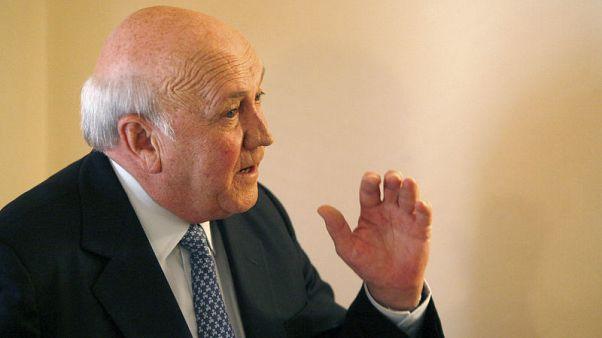 Ex-South African president De Klerk hospitalised for lung ailment