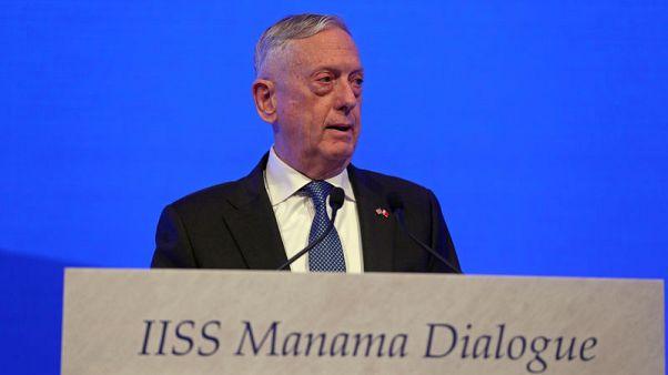 ماتيس: اتصالات وثيقة مع حلفاء أوروبيين بشأن معاهدة القوى النووية المتوسطة المدى
