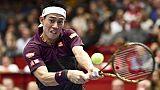 Tennis: Nishikori en finale à Vienne, le Masters en ligne de mire