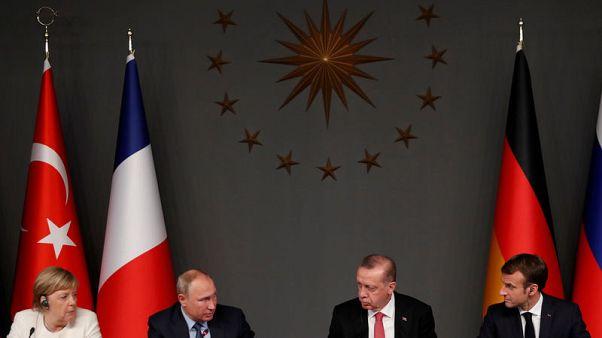 تركيا وروسيا وفرنسا وألمانيا تؤكد أهمية وقف دائم لإطلاق النار في سوريا